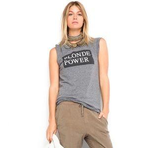 Pam & Gela Frankie Blonde Power gray t-shirt